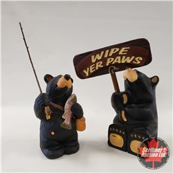 Ducks Unlimited Bear w/Sign & Bear Foots Bear w/Fishing Pole