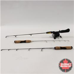 Ice Fishing Rods (3) & Reel