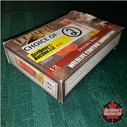 "CHOICE of 2 - NEW SURPLUS AMMO: Lightfield Wildlife Control Ammunition 12ga 2-3/4""  Double Ball ( 1"