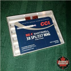 CHOICE of 5 - NEW SURPLUS AMMO: CCI Big 4 Shotshell 38 Spl/357 Mag (1 Box - 10 Rnds/Box)