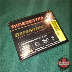 "CHOICE of 6 - NEW SURPLUS AMMO: Winchester Defender 20ga 2-3/4"" (1 Box - 5 Rnds/Box)"
