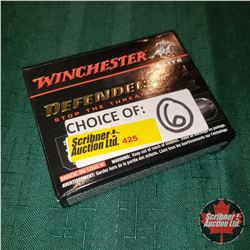"""CHOICE of 6 - NEW SURPLUS AMMO: Winchester Defender 20ga 2-3/4"""" (1 Box - 5 Rnds/Box)"""