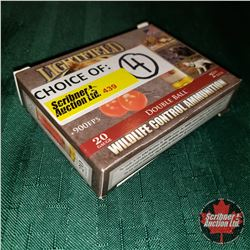 CHOICE of 4 - NEW SURPLUS AMMO: Lightfield Wildlife Control Ammunition 20ga 2-3/4  Double Ball (1 Bo