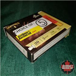 CHOICE of 5 - NEW SURPLUS AMMO: Lightfield Whitetails Unlimited 20ga 3  (1 Box - 5 Rnds/Box)