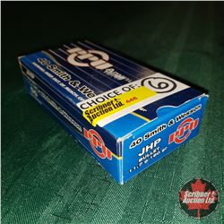CHOICE of 6 - NEW SURPLUS AMMO: PPU JHP 40S&W (1 Box - 50 Rnds/Box)