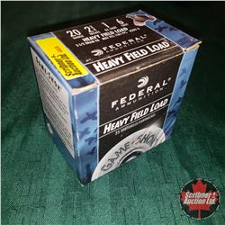 CHOICE of 4 - NEW SURPLUS AMMO: Federal Heavy Field Load (Game Shok) 20ga (1 Box - 25 Rnds/Box)