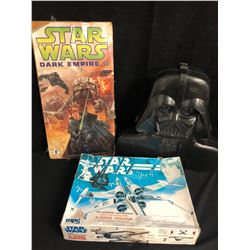 STAR WARS LOT (COMIC BOOK/ FIGURE CARRYING CASE/ X-WING FIGHTER MODEL KIT)