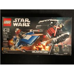 Sealed LEGO 75196 STAR WARS A-Wing vs TIE Silencer Microfighters w/ Kylo Ren