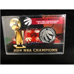LIMITED EDITION 2019 NBA CHAMPIONS TORONTO RAPTORS SILVER PLATED COIN