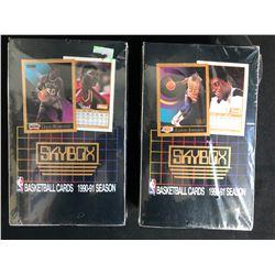 1990-91 SKYBOX BASKETBALL HOBBY BOX LOT