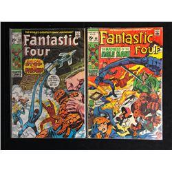 FANTASTIC FOUR COMIC BOOK LOT #114/ #89 (MARVEL COMICS)