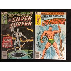 COMIC BOOK LOT (SILVER SURFER #1/ TALES TO ASTONISH #1)
