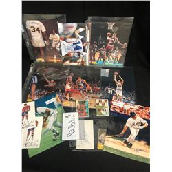 SPORTS PHOTO'S/ TRADING CARDS LOT (SOME AUTOGRAPHED)
