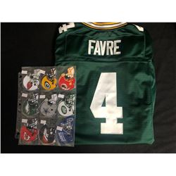 EMBROIDERED FOOTBALL PATCHES W/ BRETT FAVRE JERSEY (SMALL)