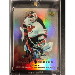 MARTIN BRODEUR SIGNED UPPER DECK HOCKEY CARD