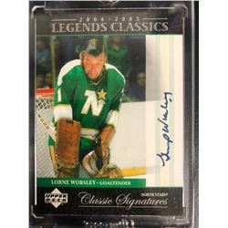 LORNE WORSLEY SIGNED UPPER DECK CLASSIC SIGNATURES HOCKEY CARD