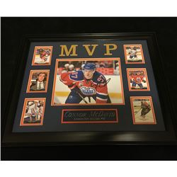 CONNOR McDAVID SIGNED FRAMED DISPLAY (BLUE LINE AUTHENTICS COA)