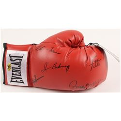 Everlast Boxing Glove Signed by (5) Mercer, Tubbs, Rahman, Iran Barkley & McCall (MAB Hologram)