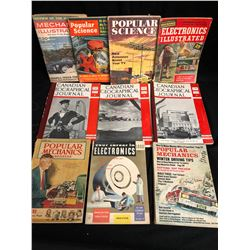 VINTAGE MAGAZINE LOT (POPULAR SCIENCE, CANADIAN GEOGRAPHICAL JOURNAL...)