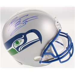 Brian Bosworth Signed Seattle Seahawks Throwback Full-Size Helmet (Beckett COA)