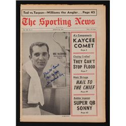 "Mike McCormick Signed Vintage 11.5x16 ""The Sporting News"" Newspaper""1967 Cy Young"" (JSA COA)"