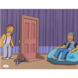 "Cheech Marin & Tommy Chong Signed ""The Simpsons"" 11x14 Photo (JSA COA)"