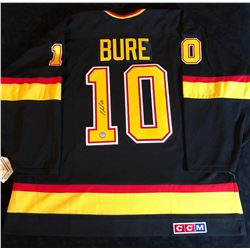 PAVEL BURE SIGNED CANUCKS JERSEY (CANADIAN HOCKEY SWEATERS COA)