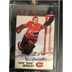 GUMP WORSLEY SIGNED CANADIENS HOCKEY CARD