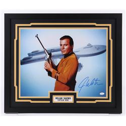 "William Shatner Signed ""Star Trek"" 22x26 Custom Framed Photo Display (JSA COA)"