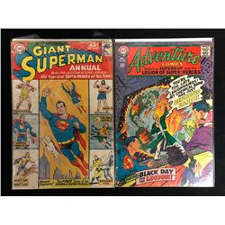 COMIC BOOK LOT (GIANT SUPERMAN ANNUAL #6/ ADVENTURE COMICS #363)
