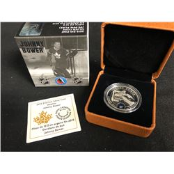 2015 $10 FINE SILVER COIN GOALIES JOHNNY BOWER (ROYAL CANADIAN MINT)