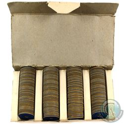 SCARCE! Original Canadian Meat Ration Token Box with virtually all 200 Tokens as issued.