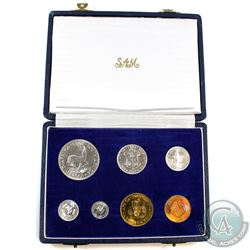 1962 South Africa Mint 7-coin Proof Set in Original Case.