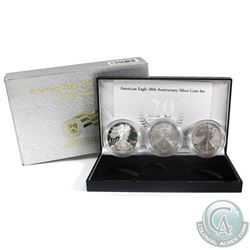 2006 20th Anniversary of the American Eagle Silver 3-coin set (Tax Exempt). To commemorate the 20th