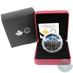 2018 Canada $30 The Queen's Gate - Formal Entrance to Parliament Hill Fine Silver Coin (Lightly tone