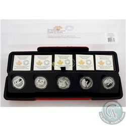 Complete 2015 $10 Adventure Canada 5-coin Set in Deluxe RCM Display Box (Tax Exempt)
