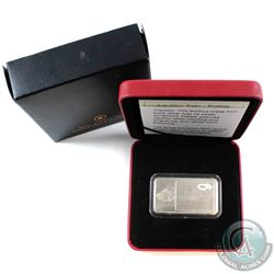 Canada Fine Silver 1oz Engravable Wedding Wafer (Scratches on wafer & outer sleeve lightly worn). (T