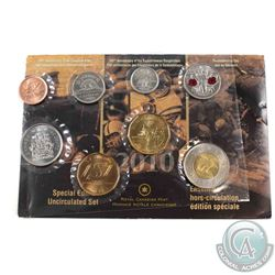 Rare! 2010 Canada Special Edition Uncirculated Proof Like Set with 14 Serration $2 coin.