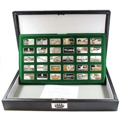 1978 The Official Gem-Ingots Sterling Silver Collection produced by The Franklin Mint. This set incl