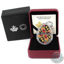 2017 Canada $20 Traditional Pysanka Egg Shaped Fine Silver Coin. (TAX Exempt)