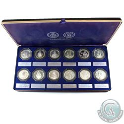 The Catholic Art Guild Sterling Silver 12-Coin Commemorative Medal Set in Deluxe Blue Display Case b