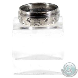 2019 Canada Silver 50ct Coin Custom Jewellery Ring Size 7.5 - Made from a real 50-cent coin!
