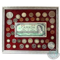 1967 Canada Centennial Custom Made Coin and Banknote Set in Frame. You will receive a variety of 196