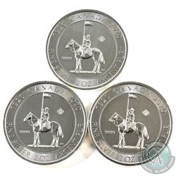 2020 Canada $10 Royal Canadian Mounted Police 2oz .999 Fine Silver Coins. 3pcs (TAX Exempt)