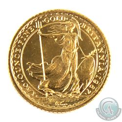 1987 Great Britain 1/10oz Fine Gold Coin. (TAX Exempt)