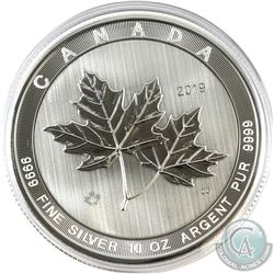 2019 Canada $50 Magnificent Maple Leaves 10oz .9999 Fine Silver Coin in Capsule. (TAX Exempt)