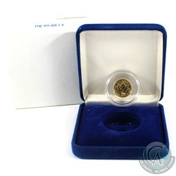 2000 Canada 1/20oz Fireworks Privy .9999 Fine Gold Maple Leaf in Blue Display Box with Sleeve. (TAX