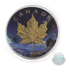 2015 Canada 1oz 'Titanic' Coloured and Antiqued .9999 Fine Silver Maple Leaf in Capsule. (TAX Exempt