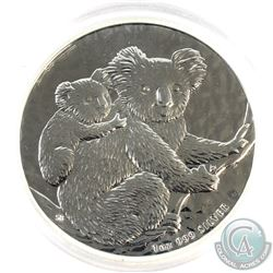 Scarce Year 2008 Australia 1oz .999 Fine Silver Koala in Capsule. (TAX Exempt)