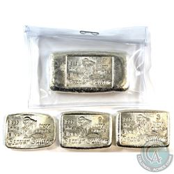 1oz, 2oz, 3oz & 4oz Beaver Bullion .999 Fine Silver Poured Bars. 4pcs (TAX Exempt)
